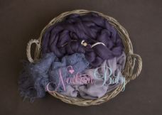 Oval  Basket  Bundle ~ purples